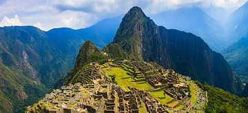 Panorama Machu Picchu, Peru van Henk Meijer Photography