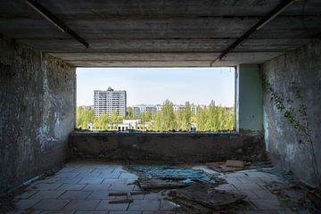 Blick auf die verlassene Stadt. von Roman Robroek