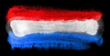Symbolische nationale vlag van Nederland van Achim Prill
