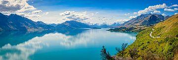 Route entlang des Lake Hawea, Neuseeland von Rietje Bulthuis