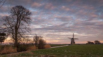 Molen in het Friese landschap van piet douma