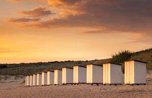Zonsondergang strand Breskens Nederland van