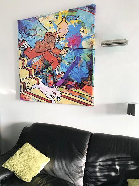 Kundenfoto: Tintin und Bobbie von der Treppe von Frans Mandigers