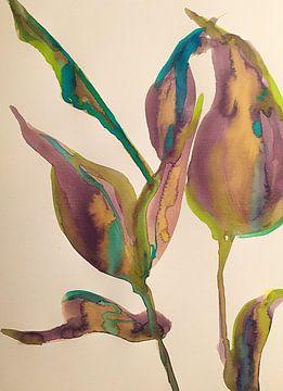 Folgen Sie der blauen Linie von Helia Tayebi Art