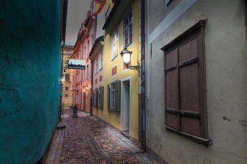 straat in riga Letland van eric van der eijk