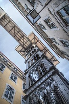 Lissabon 4 - Elevador de Santa Justa van Michael Schulz-Dostal