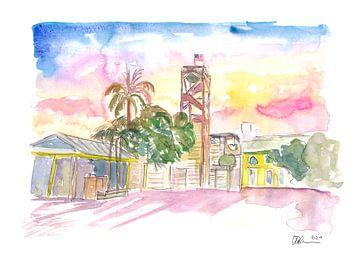 Key West Front Street mit Schiffswrackmuseum von Markus Bleichner