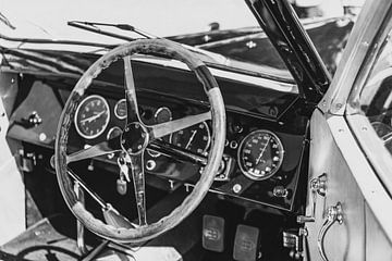 Bugatti Type 57 Berline klassieke auto interieur van Sjoerd van der Wal
