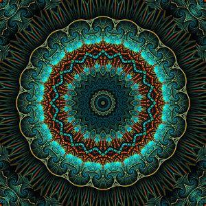 Mandala-Illusion grün van Marion Tenbergen