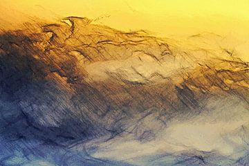 Abstrakt - Wettergeschichten - Auf ein Wolkenbett geploppt von Schildersatelier van der Ven