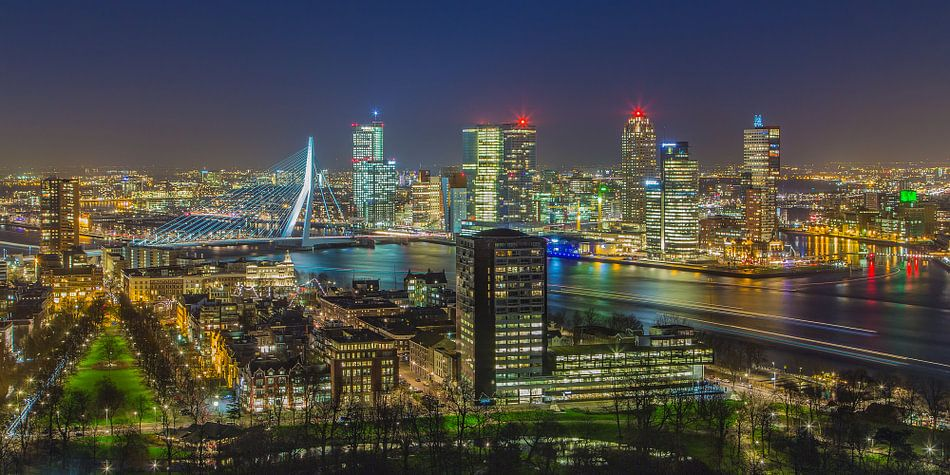 Skyline Rotterdam vanaf de Euromast | Tux Photography - 7