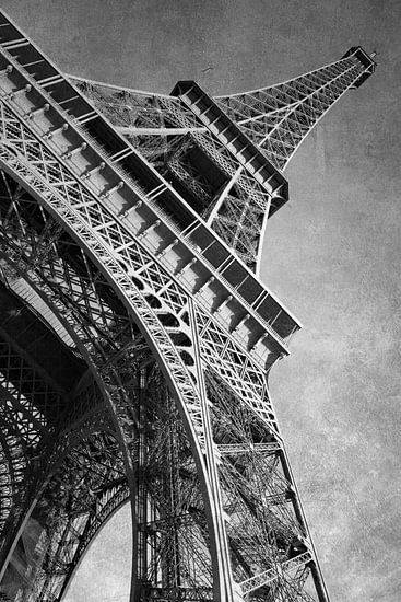 Parijs, Eiffeltoren, Frankrijk/ zwart-wit
