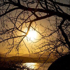 Sunset at Zulu land van Ineke Huizing