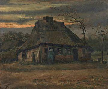 Strohhütte in der Abenddämmerung, Vincent van Gogh