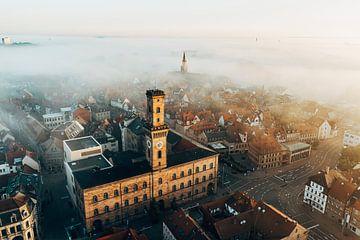 Fürth stadhuis in de mist