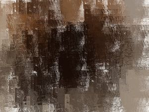 Abstract grunge in bruin beige aarde tinten van Maurice Dawson