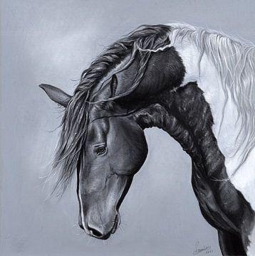 Paard tekening Leontine van Vliet van Leontine van Vliet