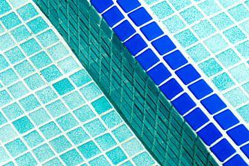 Zwembad mozaiek van Sigrid Klop