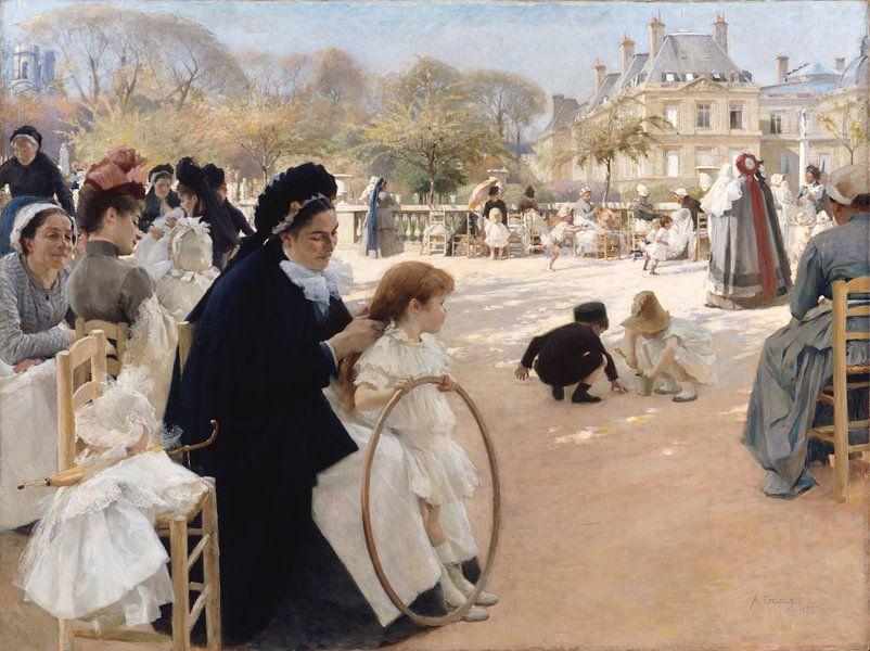 Luxenburggarten in Paris, Albert Edelfelt von Meesterlijcke Meesters