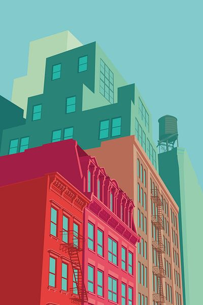 Soho NYC van Remko Heemskerk
