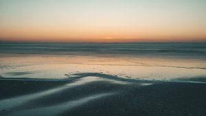 Norderney op het blauwe uur