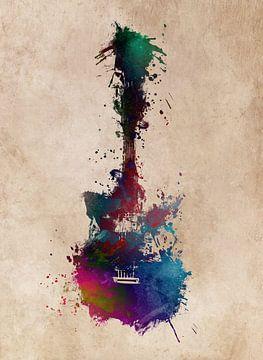 Gitarre 42 Musikkunst #Gitarre #Musik von JBJart Justyna Jaszke