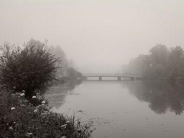 River Amper In Fog von Lena Weisbek