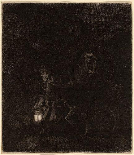 Die Flucht nach Ägypten von Rembrandt van Rijn