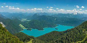 Walchensee mit Karwendelgebirge, Bayern, Deutschland