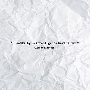 Creativity is intelligence having fun van