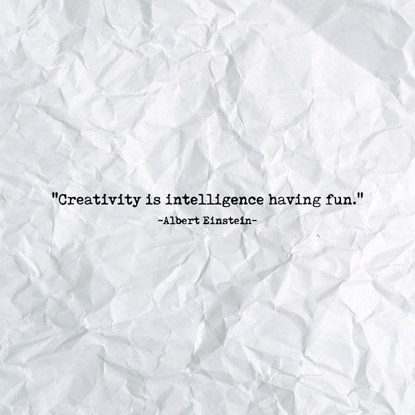 Creativity is intelligence having fun van Maarten Knops