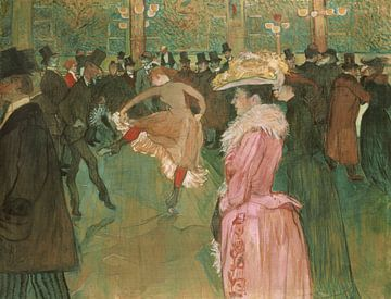 Au Moulin Rouge : La Danse, Henri de Toulouse-Lautrec sur