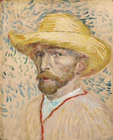 vincent van Gogh. zelfportret met strooienhoed  van 1000 Schilderijen