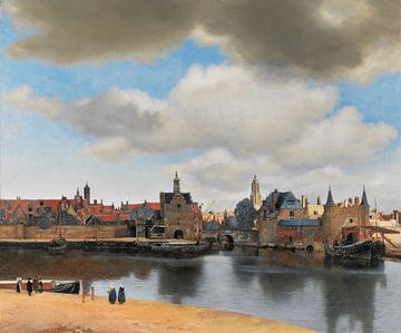 Ansicht von Delft von Vermeer