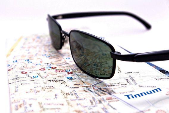 Stadsplattegrond, Sylt, zonnebrillen