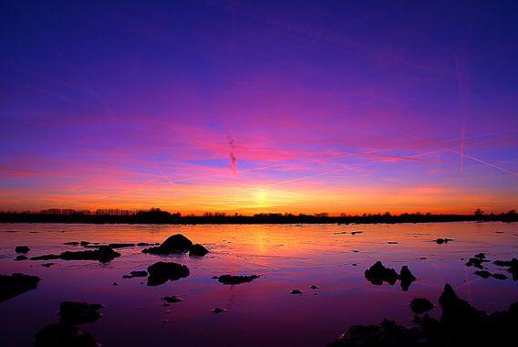 Cold sunset van Joost Lagerweij