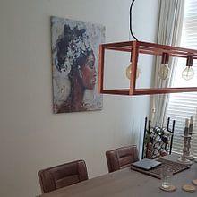 Kundenfoto: Abstraktes Gemälde einer afrikanischen Frau von Mieke Daenen, auf leinwand
