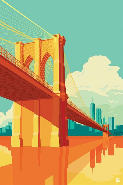 Brooklyn Bridge NYC van Remko Heemskerk