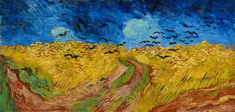 Korenveld met kraaien - Vincent van Gogh van Meesterlijcke Meesters