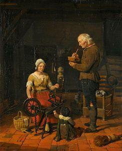 Bauernfamilie in ihrer Hütte, Cornelis Kruseman