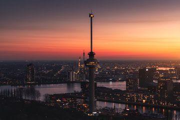 The Overwatch - Euromast Rotterdam Zonsondergang von Vincent Fennis