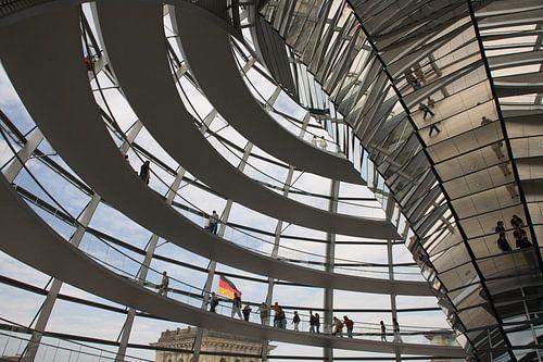 De koepel van de Reichstag van Jim van Iterson