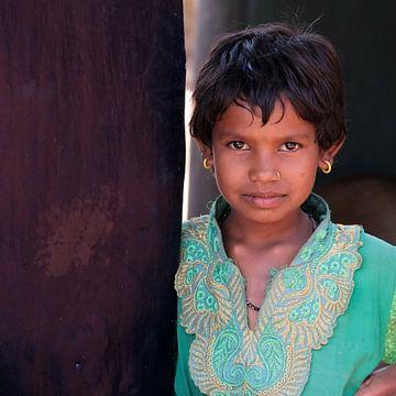 meisje in groen van Affectfotografie