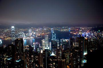Skyline van Hong Kong van Joke Van Eeghem