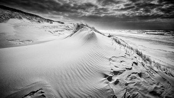 De schoonheid van de Hollandse kust in zwart - wit