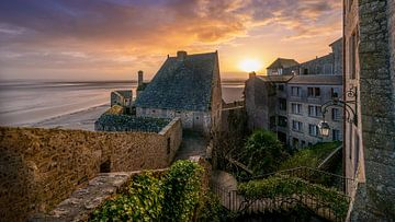 Mont Saint Michel au lever du soleil sur Rene Siebring