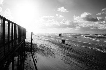 Wilde zee met golven van Linda van Miltenburg