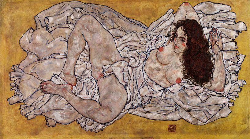 Liegender Frau, Egon Schiele von 1000 Schilderijen