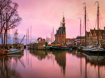 Hoorn bij Zonsondergang, Nederland van Adelheid Smitt