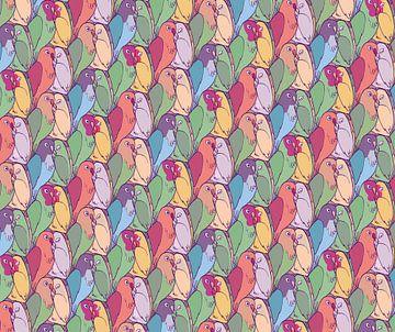 Papageien-Muster von Renée van den Kerkhof